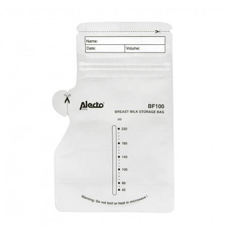 Alecto Moedermelk Bewaarzakjes 220ml-100stks BF100