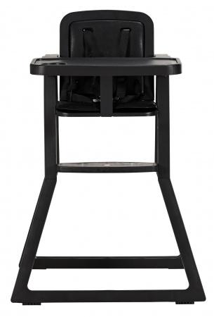 Puck Kinderstoel Plain Zwart incl. kussen