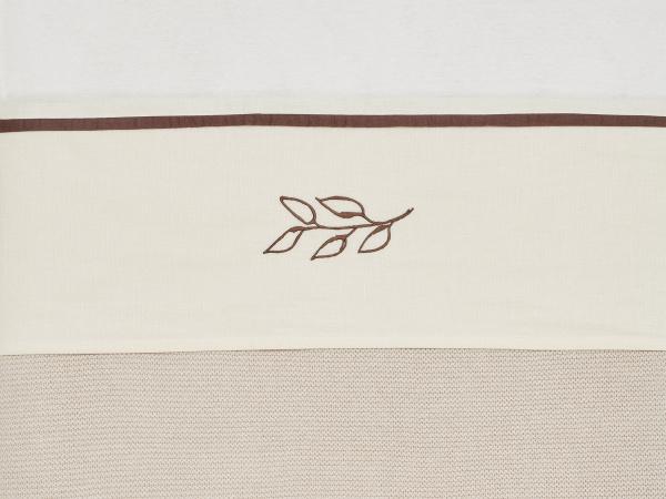 Jollein Ledikantlaken Meadow Chestnut <br>120x150cm