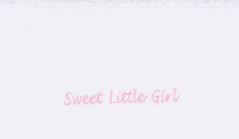 Briljant Wieglaken Sweet Little Girl roze<br> 75 x 100 cm