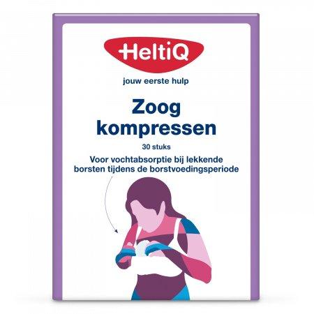 HeltiQ Zoogcompres Voorgevormd (30 stuks)
