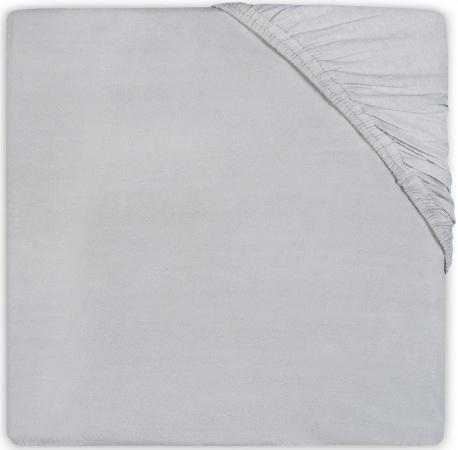 Jollein Juniorhoeslaken Katoen <br> 70 x 140 cm Soft Grey