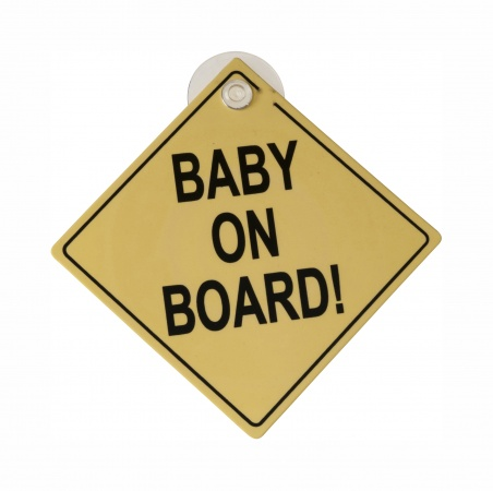 Safety 1st Autobordje Baby On Board Geel