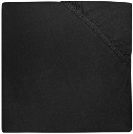 Jollein Ledikanthoeslaken Jersey <br> 60 x 120 cm Black