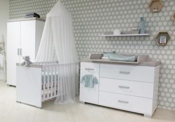 Kinderkamer Baby Dump.Transland Ledikant 60 120 Commode 3 Laden 1 Deur