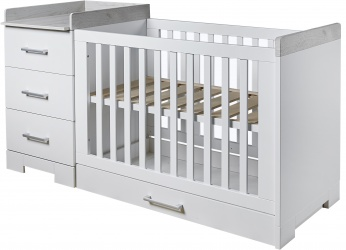Ledikant En Commode In 1.Combi Ledikant Commode Futura Babykamers Baby Dump