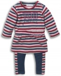2-Delige Set Stripes Navy Red Pink