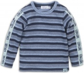 T-Shirt Stripes Blue Melee Navy