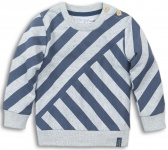 Trui Stripes Grey Melee Mid Blue