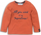 T-Shirt Superhero Rusty Orange