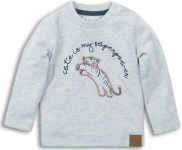 T-Shirt Tiger Grey Melange