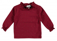 T-Shirt Ruffle Dots Tibetan Red