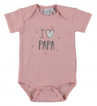 Romper I Love Papa Silver Pink