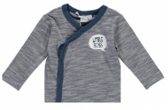 T-Shirt Overslag Melange Prematuur