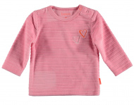 T-Shirt Velvet Striped Pink