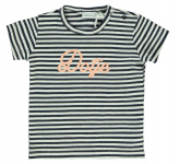 T-Shirt Korte Mouw Dotje Stripe Total Eclipse