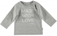 T-Shirt Made With Love Pinstripe Grey