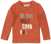 T-Shirt Good One Neon Coral Stripe