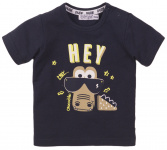 T-Shirt Korte Mouw Hey Navy