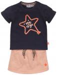 2-Delige Set Rok Shirt Star Navy