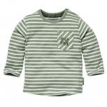 T-Shirt Zahi Dusty Green Stripe