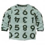 T-Shirt Zaki Dusty Green Melee Letter