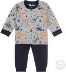 Dirkje Pyjama Dino Grey Melee/Navy