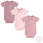 Romper Korte Mouw 3-Pack Mauve/Light Pink