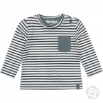 T-Shirt Stripe Dusty Green/Offwhite