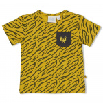 T-Shirt Korte Mouw Go Wild Okergeel