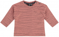 T-Shirt Stripes Dark Salmon