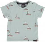T-Shirt Korte Mouw Boats Grey Mint