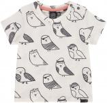 T-Shirt Korte Mouw Birds Offwhite