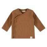 T-Shirt Overslag Rib Chocolate