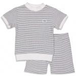 Pyjama Kort Wafel Marine