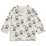 T-Shirt Leeuw King Of Cool Offwhite