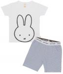 Pyjama Kort Nijntje White Navy