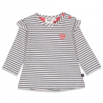 T-Shirt Streep Sweetheart Offwhite