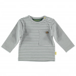 T-Shirt Striped Pocket White
