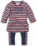 2-Delige Set Stripes Navy Red Pink