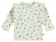 T-Shirt Ruffle Feather Snow White