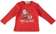 Babylook T-Shirt Mijn 1e Kerst