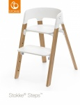 Stokke® Steps™ Chair Seat White Legs Oak Wood Natural