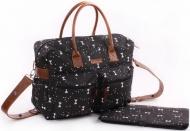 Kidzroom Diaperbag Black & White Femke Bow