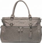 Little Company Diaperbag Monaco Braided Taupe