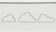 Meyco Ledikantlaken Little Clouds Grijs  100 x 150 cm