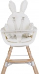 Childhome Stoelverkleiner Evolu / Ironwood Jersey Rabbit White