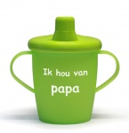 KiddyBoo Anti-Lekbeker I Love Papa Lime