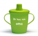 KiddyBoo Anti-Lekbeker I Love Oma Lime