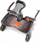 Buggy Board Maxi Zwart Inclusief Saddle Grey